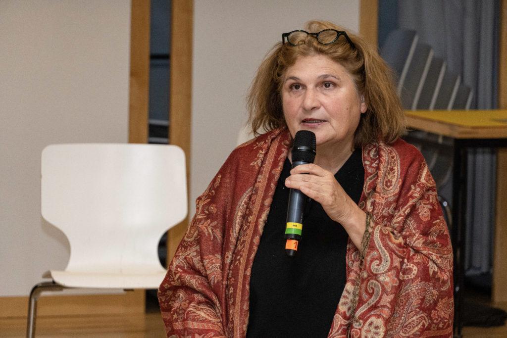 Prof. Johanna Haberer bei der Fishbowldiskussion (Bild: Olivia Rademacher)